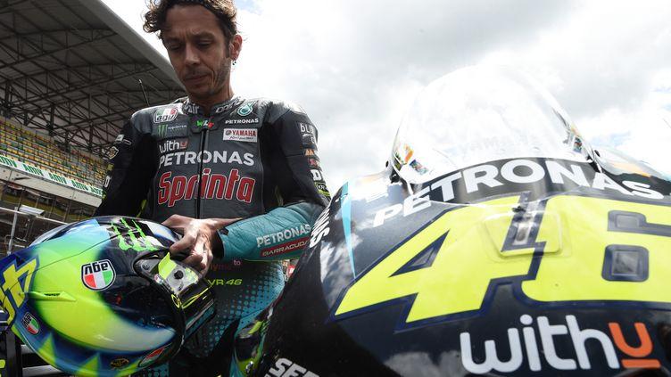 Valentino Rossi (Yamaha Petronas) a perdu de sa superbe en quelques saisons. (JEAN-FRANCOIS MONIER / AFP)