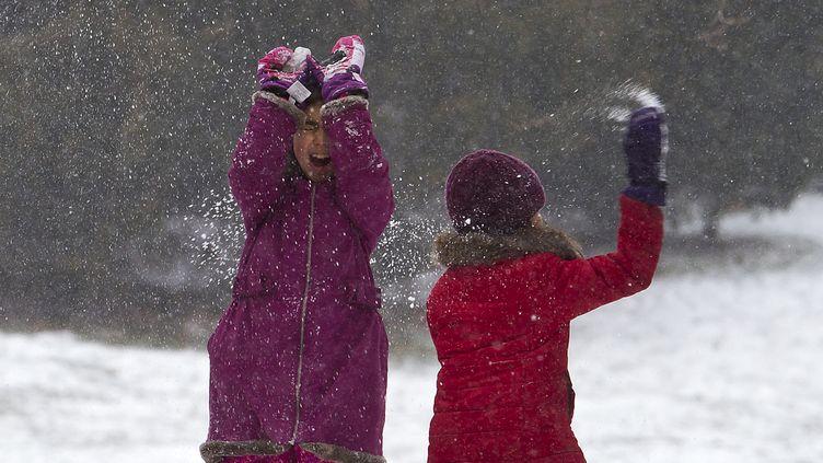 Des enfants jouent dans Central Park, à New York (Etats-Unis), le 26 janvier 2015. (CARLO ALLEGRI / REUTERS)