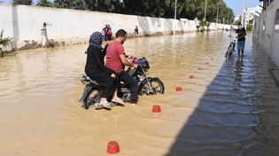 Des pluies diluviennes ont causé d'importantes inondationsà Nabeul (Tunisie), l 23 septembre 2018. (FETHI BELAID / AFP)