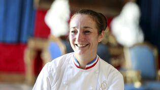 "La cheffe du ""Negresco"" Virginie Basselot, à Nice (Alpes-Maritimes). (DYLAN MEIFFRET / MAXPPP)"