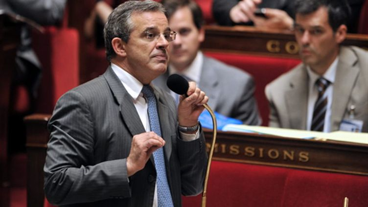 Thierry Mariani à l'Assemblée nationale , le 29/09/2010 (AFP/Boris Horvath)