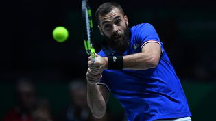 Le Français Benoît Paire a été battu en Coupe Davis par le Serbe Novak Djokovic à Madrid, le jeudi 21 novembre 2019. (VLADIMIR PESNYA / SPUTNIK)