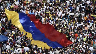 Une manifestation des partisans de l'opposition, à Caracas, au Venezuela, le 2 février 2019. (FEDERICO PARRA / AFP)