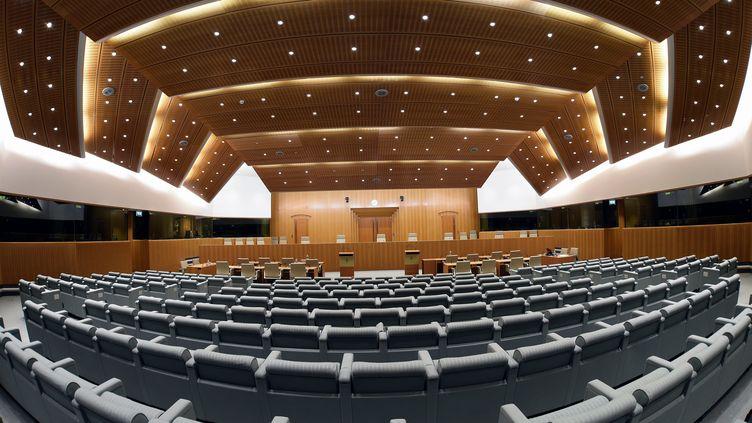 Salle d'audience du Tribunal de l'Union européenne, le 24 novembre 2016. (Photo d'illustration) (MAXPPP)