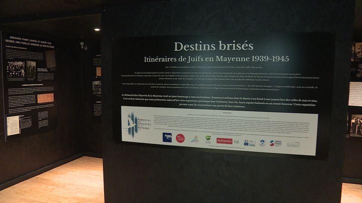 """""""Destins brisés"""", la nouvelle exposition temporaire du Mémorial des Déportés de la Mayenne. (France 3 Pays de la Loire / M. Baron)"""