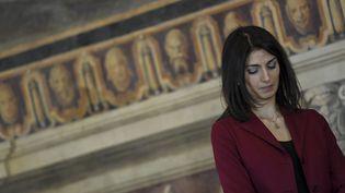 La maire de Rome Virginia Raggi le 20 fevrier 2017 (ANDREAS SOLARO / AFP)