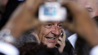 Jacques Chirac, lors des voeux du Nouvel An, à Tulle,en Corrèze, le 6 janvier 2017. (PATRICK KOVARIK / AFP)