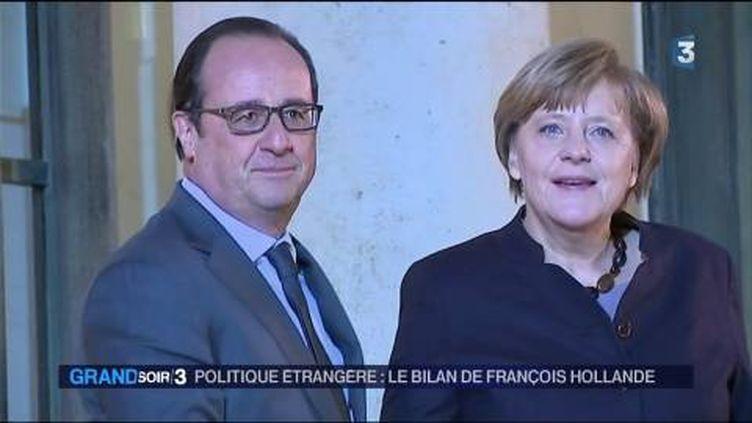 François Hollande et Angela Merkel ont travaillé ensemble sur le dossier ukrainien. (FRANCE 3)