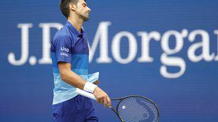 Novak Djokovic en finale de l'US Open face à Daniil Medvedev. (SARAH STIER / GETTY IMAGES NORTH AMERICA)