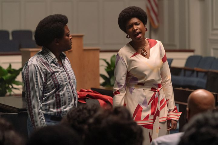 Tituss Burgess (le pasteur James Cleveland) et Jennifer Hudson (Aretha Franklin) (METRO GOLDWYN MEYER PICTURES / QUANTRELL D. COLBERT)