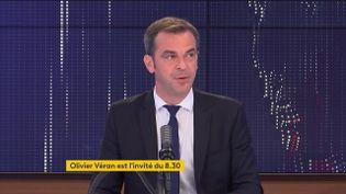 Olivier Véran, ministre des Solidarités et de la Santé, était l'invité du 8h30 franceinfo le 29 juin 2021. (FRANCEINFO / RADIOFRANCE)