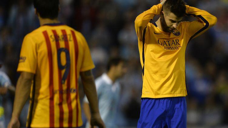Gérard Piqué et le Barça ont sombré face au Celta Vigo (MIGUEL RIOPA / AFP)