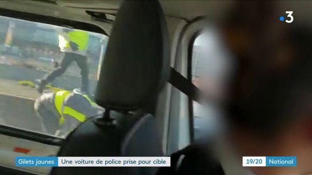 """""""Gilets jaunes"""" : un véhicule de police pris pour cible"""