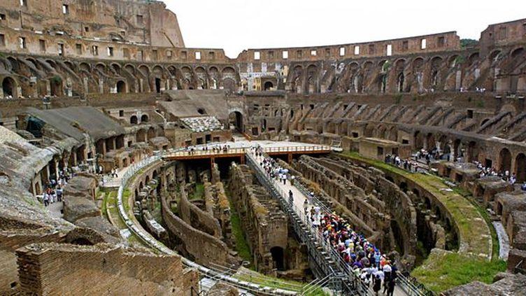 L'intérieur du Colisée, à Rome  (AFP/GABRIEL BOUYS)