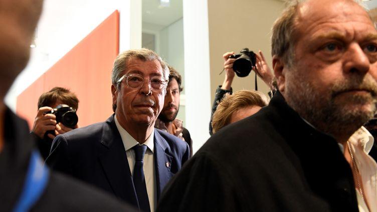 Le maire de Levallois-Perret Patrick Balkany arrive à son procès, le 13 mai 2019 à Paris. (BERTRAND GUAY / AFP)