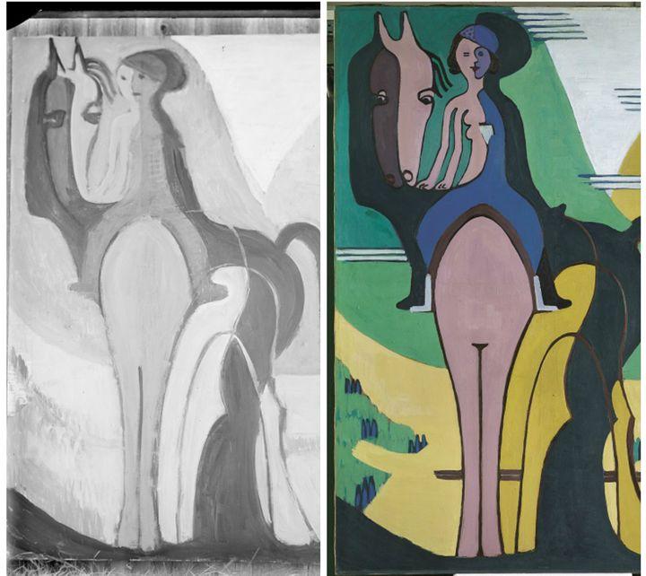 La photo et la peinture par Kichner  (Kirchner Museum Davos)