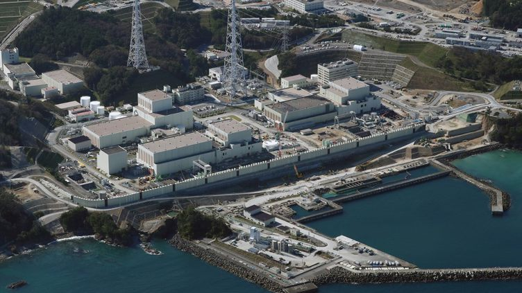Une vueaériennede la centrale nucléaire d'Onagawa, à 340 kilomètres au nord de Tokyo, le 21 octobre 2020. (KEITA IIJIMA / YOMIURI / THE YOMIURI SHIMBUN VIA AFP)