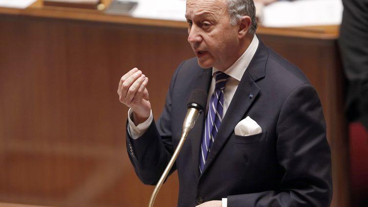 Le ministre des Affaires étrangères Laurent Fabius à l'Assemblée nationale, le 17 mars 2015. (FRANCOIS GUILLOT / AFP)
