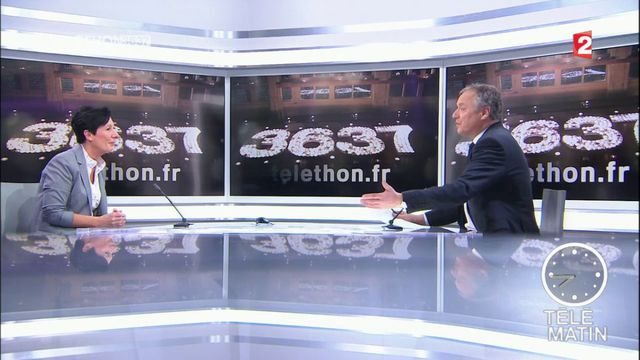Les 4 vérités - Laurence Tiennot-Herment, présidente de l'AFM-Téléthon, encourage les dons pour la recherche