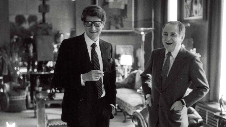 Yves Saint Laurent et Pierre Bergé Grand Salon du 55 rue de Babylone, 1982  (Vladimir Sichov)