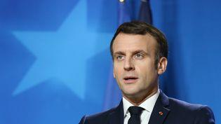 Emmanuel Macron lors d'un sommet européen à Bruxelles, le 11 décembre 2020. (DURSUN AYDEMIR / ANADOLU AGENCY / AFP)