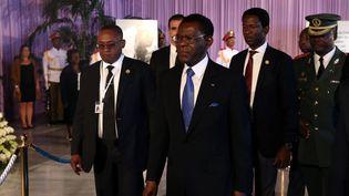 Le président de Guinée Equatoriale, Teodoro Obiang Nguema Mbasogo, en visite officielle à Cuba, le 29 novembre 2016. (CARLOS GARCIA RAWLINS / REUTERS)