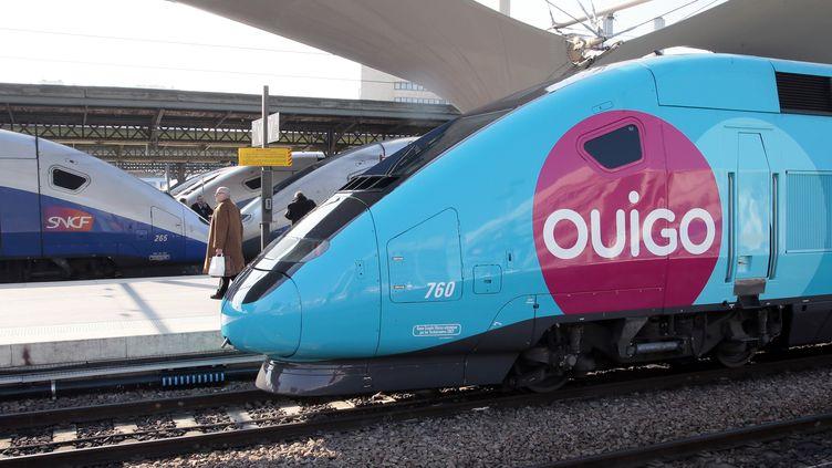 Un TGV Ouigo stationne en gare de Lyon, à Paris, le 19 février 2013. (JACQUES DEMARTHON / AFP)