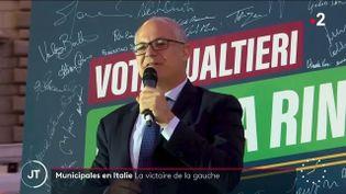 L'ancien ministre de l'Économie italien, Roberto Gualtieri. (France 2)