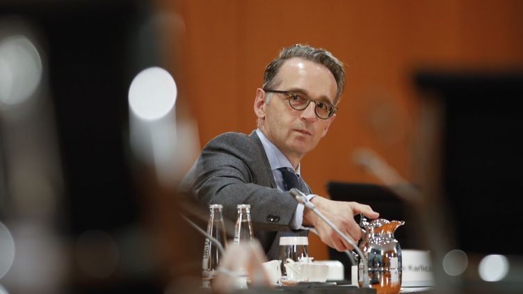 Heiko Maas, le chef de la diplomatie allemande, à Berlin (Allemagne), le 7 octobre 2020. (MARKUS SCHREIBER / AP / AFP)