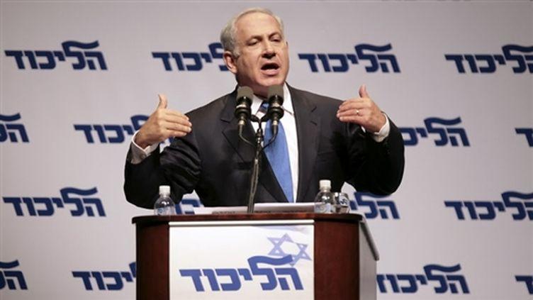 Netanyahu lance sa campagne (27/01/2009) (© AFP/Leon Neal)