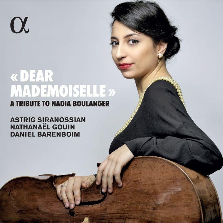 "Couverture du disuqe ""Dear Mademoiselle"", hommage à Nadia Boulanger par Astrig Siranossian. (ALPHA CLASSICS)"