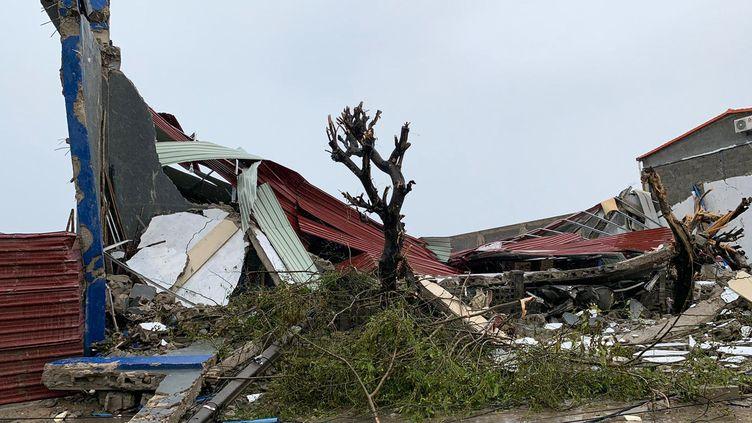 Un aperçu des dégâts à Beira (Mozambique), le 18 mars 2019, après le passage du cyclone Idai. (DEBORAH NGUYEN / WFP)