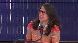Audrey Pulvar, adjointe à la mairie de Paris et candidate socialiste aux élections régionales en Ile-de-France. (FRANCEINFO / RADIOFRANCE)
