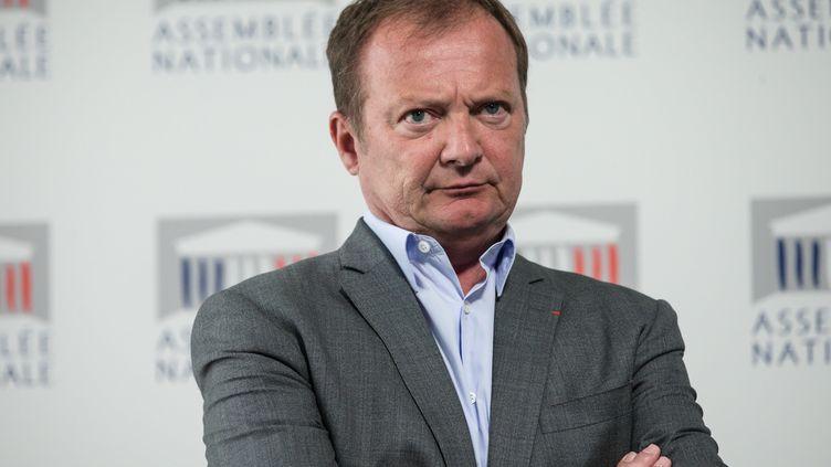 Le député communiste Stéphane Peu, le 22 mai 2018, à l'Assemblée nationale. (AURELIEN MORISSARD / MAXPPP)
