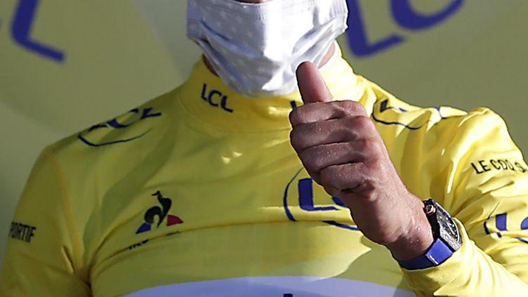 Le Français Julian Alaphilippe (Deceuninck-Quick-Step) en jaune (STEPHANE MAHE / POOL)