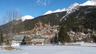 La station de ski de Contamines-Montjoie (Haute-Savoie), le 8 février 2020. (MARIE GIFFARD / AFP)