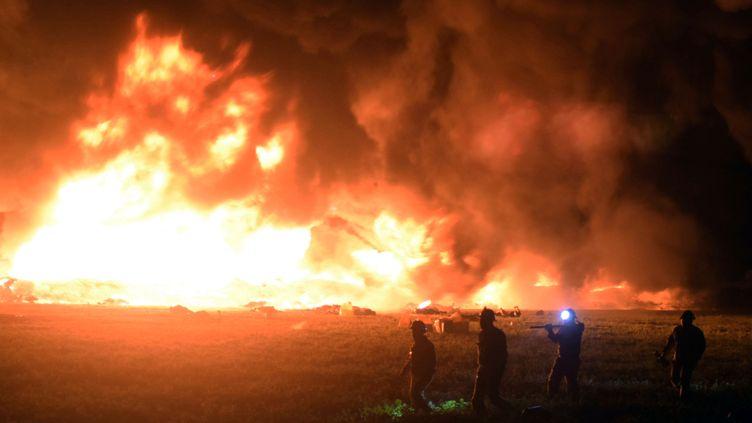 Un oléoduc a explosé près deTlahuelilpan (Mexique), le 18 janvier 2019. (FRANCISCO VILLEDA / AFP)