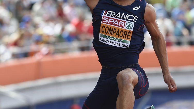 Le champion d'Europe du triple saut Benjamin Campaoré