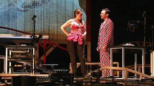 """Comédiens, chanteurs et musiciens se partagent la scène pour l'opéra """"Peer Gynt"""" qui sera joué en intégralité à l'opéra de Limoges les 9 et 11 mai.  (France 3 / Culturebox)"""