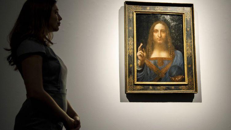 Le Salvador Mundi attribué à Léonard de Vinci. (TOLGA AKMEN / AFP)
