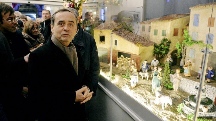 Robert Ménard à l'inauguration de sa crèche de Noël le 4 décembre 2017 à Béziers (Hérault). (MAXPPP)