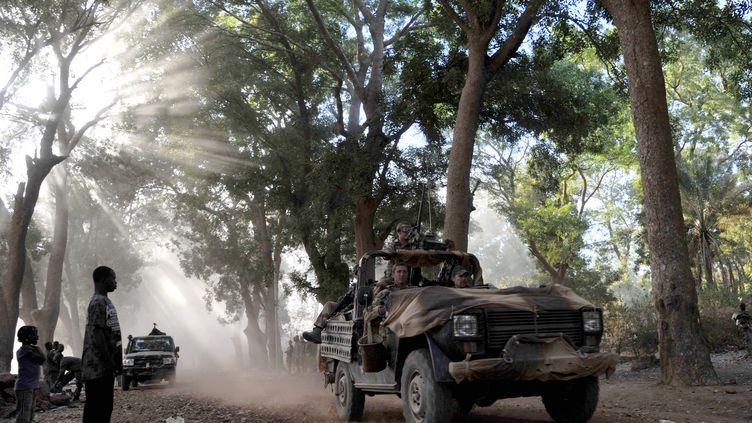 Des soldats français à Niono (Mali), le 20 janvier 2013. (ISSOUF SANOGO / AFP)