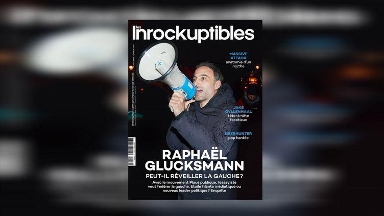 """Raphaël Glucksmann en couverture du magazine """"Les Inrockuptibles"""" du 6 février 2019. (LES INROCKUPTIBLES)"""