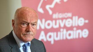 Le président sortant de la région Nouvelle-Aquitaine, Alain Rousset, le 15 mai 2017 à Bordeaux (Gironde). (MEHDI FEDOUACH / AFP)