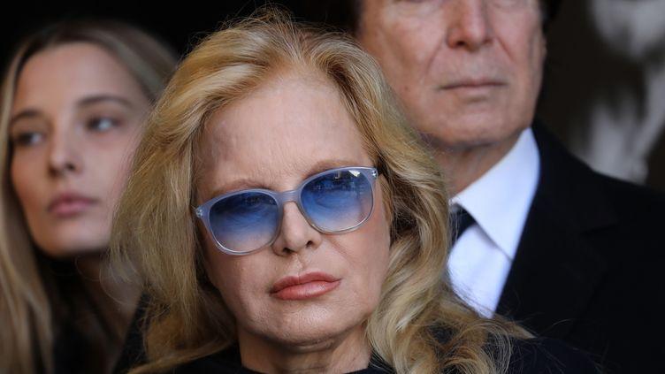 Sylvie Vartan lors des obsèques de Johnny Hallyday à Paris, le 9 décembre 2017. (AFP)