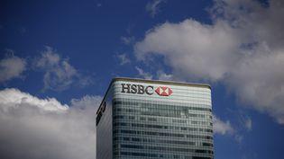 Le siège de la banque HSBC à Londres, le 31 juillet 2018. (TOLGA AKMEN / TOLGA AKMEN)