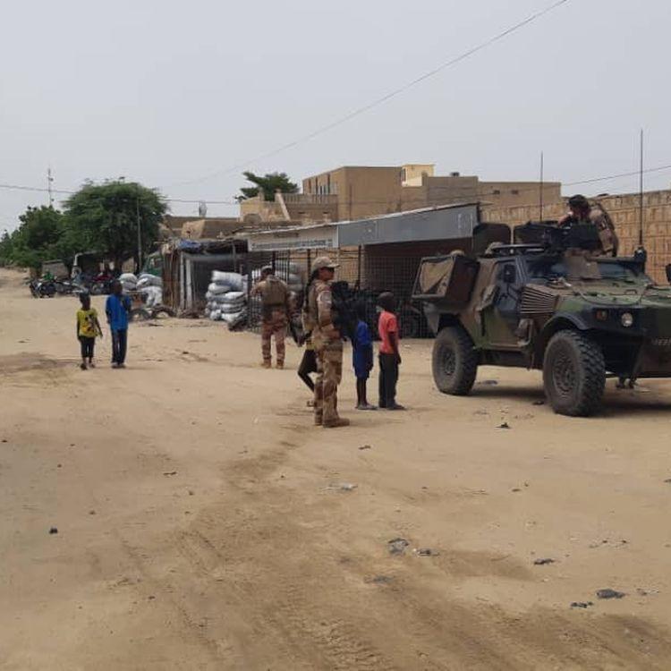 Soldats de l'opération Barkhane à Tombouctou, en septembre 2021. (OMAR OUAHMANE / RADIO FRANCE)
