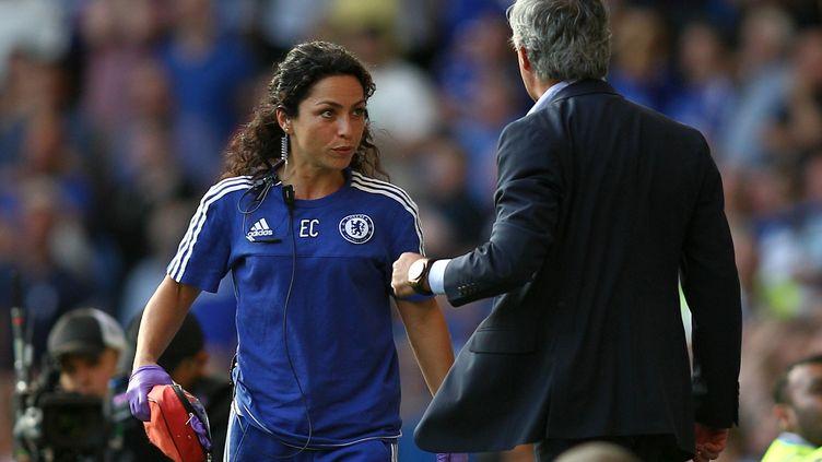 José Mourinho et le docteur de Chelsea Eva Carneiro (MICHAEL ZEMANEK / BACKPAGE IMAGES LTD)
