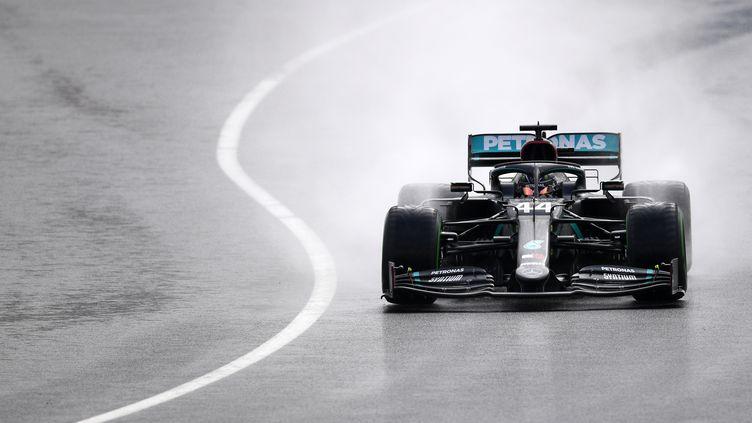 Lewis Hamilton, champion du Monde de Formule 1 pour la septième fois. (CLIVE MASON / POOL)