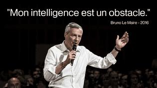 Avec cette citation empreinte de modestie, Bruno Le Maire aurait pu prétendre au Melon d'or 2016. Il devra se contenter du Grand Prix de l'humour politique. (AFP)
